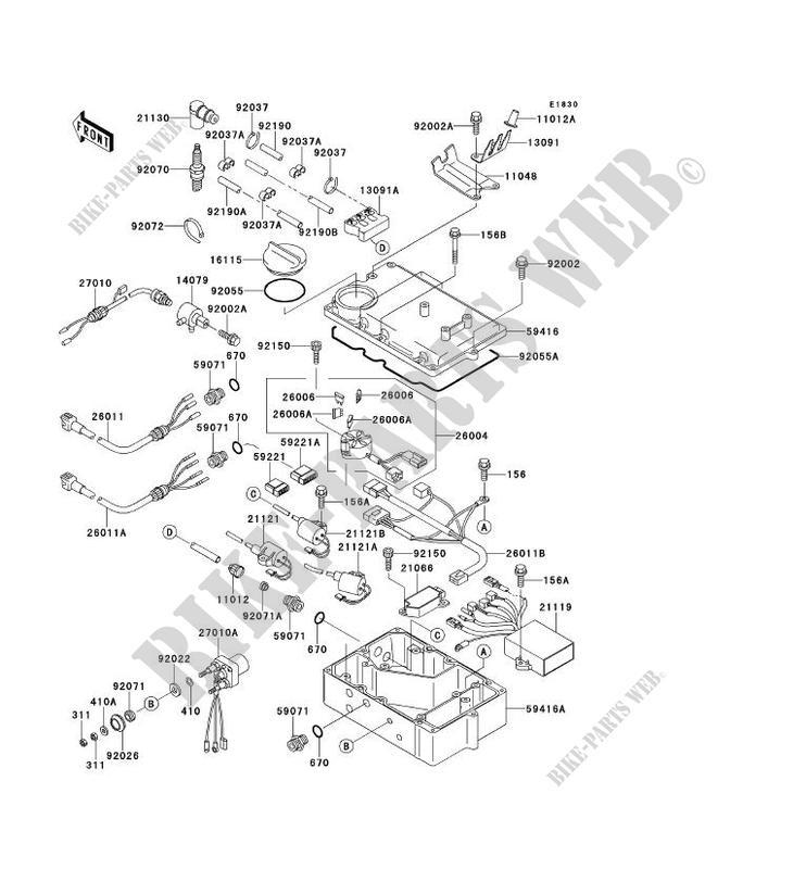 SYSTEME D ALLUMAGE JH900 A1 JET SKI 900 ZXI 1995 900 JET