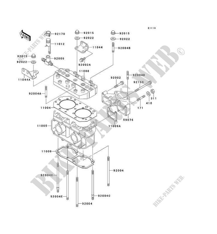 CULASSE/CYLINDRE pour Kawasaki JET SKI 550SX 1990