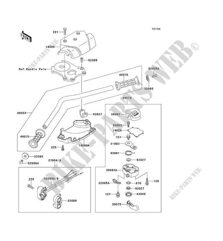 GUIDON(JS650B 600374 ) pour Kawasaki JET SKI 650SX 1991