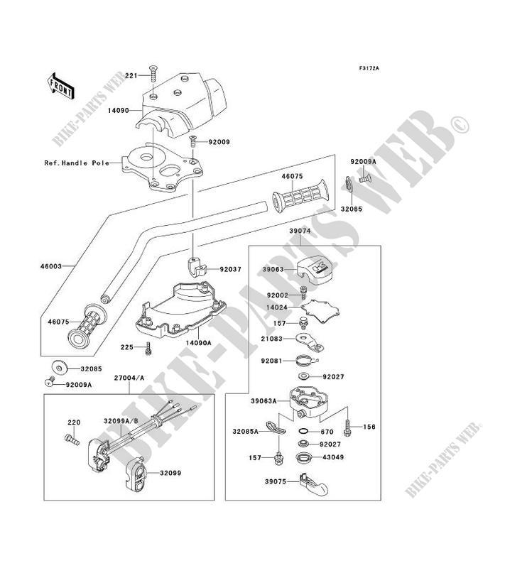 GUIDON(KAW64651 91 ) pour Kawasaki JET SKI 650SX 1992