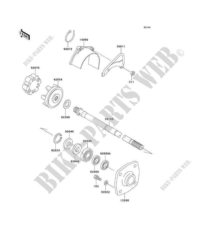 ARBRE DE TRANSMISSION pour Kawasaki JET SKI 750 SXI PRO