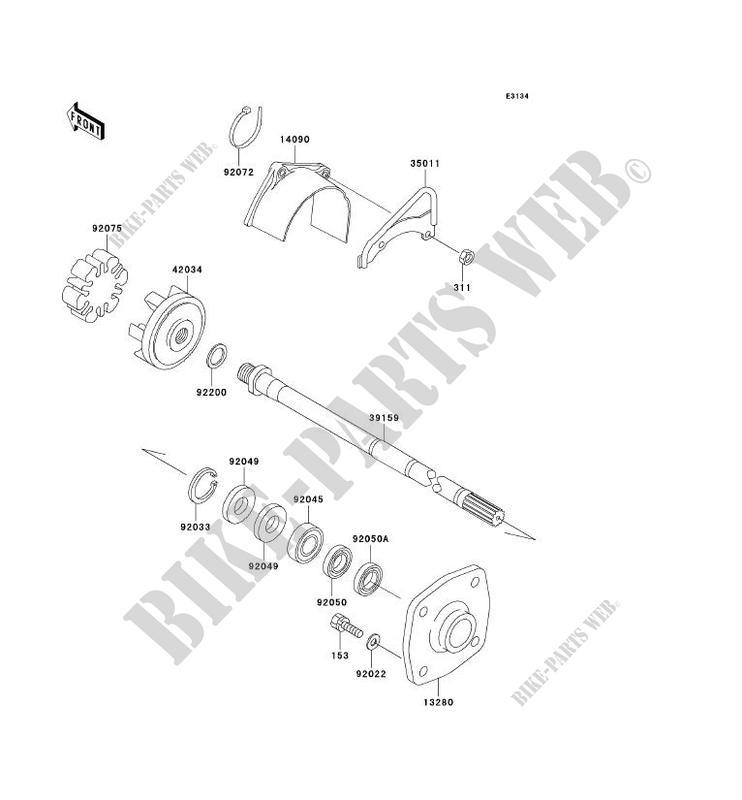 ARBRE DE TRANSMISSION JS800 A1 JET SKI 800 SX R 2003 800