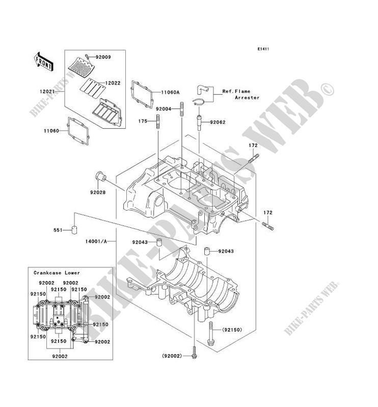 CARTER MOTEUR(S) pour Kawasaki JET SKI 800 SX-R 2003