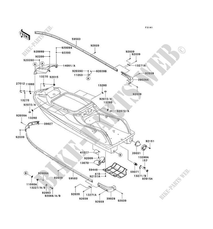 COQUE JS800 A1 JET SKI 800 SX R 2003 800 JET SKI Kawasaki