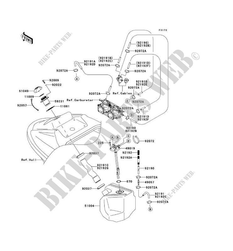 RESERVOIR CARBURANT pour Kawasaki JET SKI 800 SX-R 2006