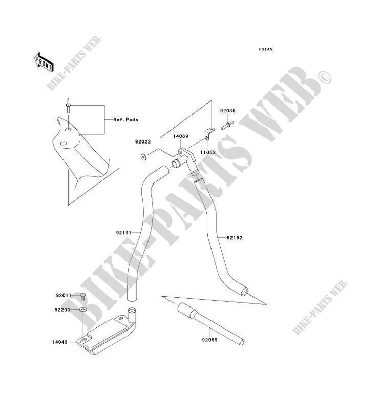 SYSTEME DE CALE pour Kawasaki JET SKI 800 SX-R 2006