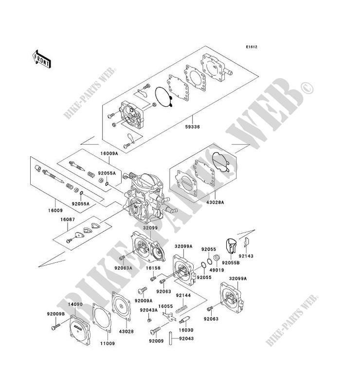 PIÈCES DE CARBURATEUR pour Kawasaki JET SKI 1100 STX 1997