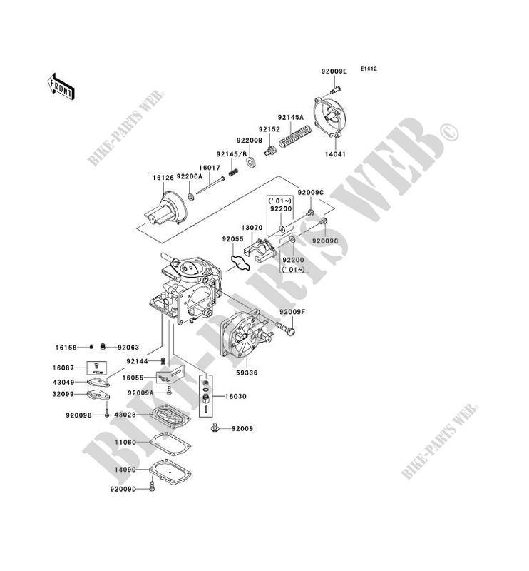 PIÈCES DE CARBURATEUR pour Kawasaki JET SKI 1100 STX 2002