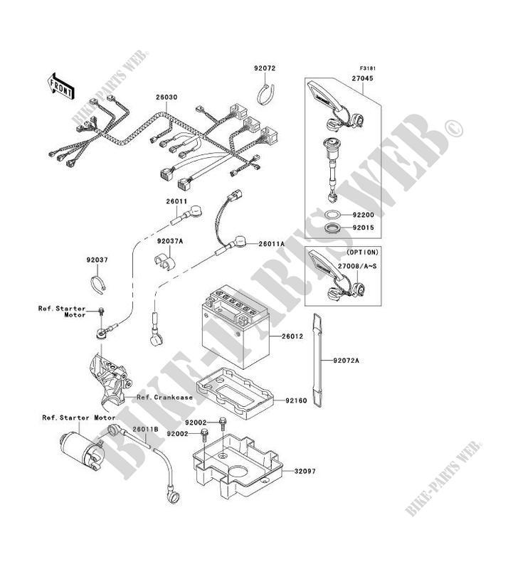 ÉQUIPEMENT ELECTRIQUE pour Kawasaki JET SKI 1200 STX-R