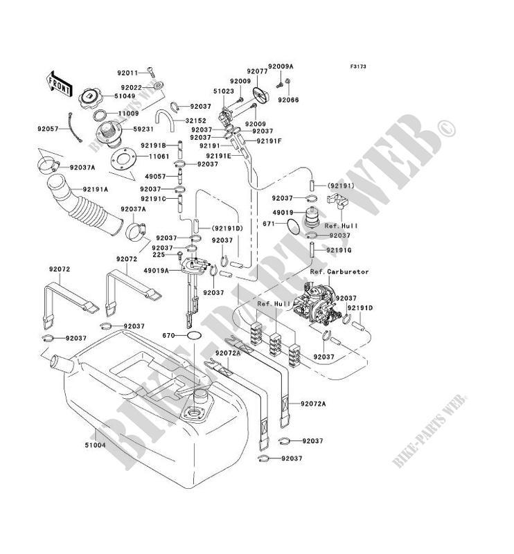 RESERVOIR CARBURANT JT1200 A1 JET SKI 1200 STX R 2002 1200
