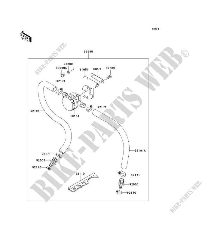 PIECE EN OPTION pour Kawasaki JET SKI 1200 STX-R 2003
