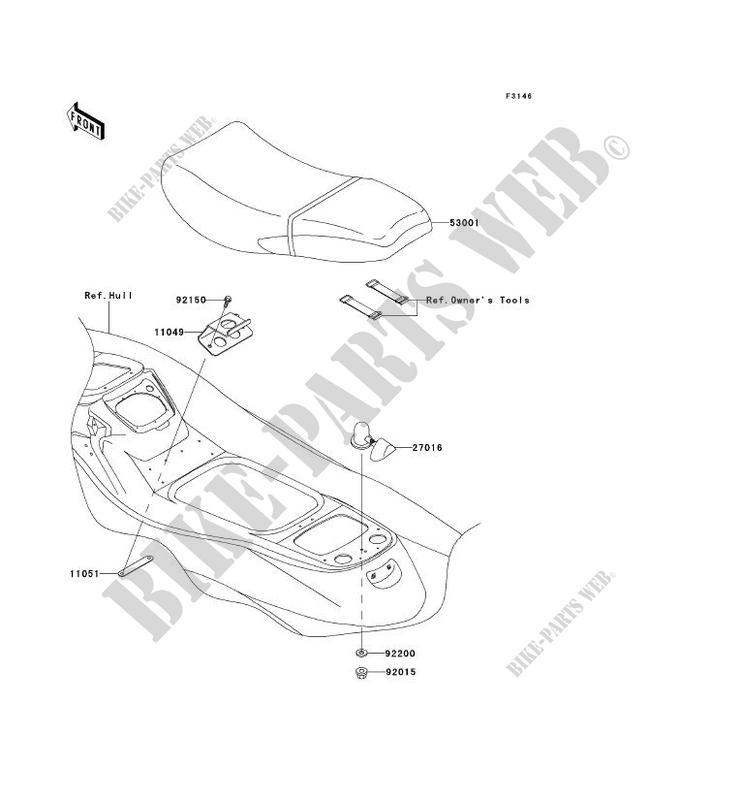 SELLE pour Kawasaki JET SKI 1200 STX-R 2003 # KAWASAKI