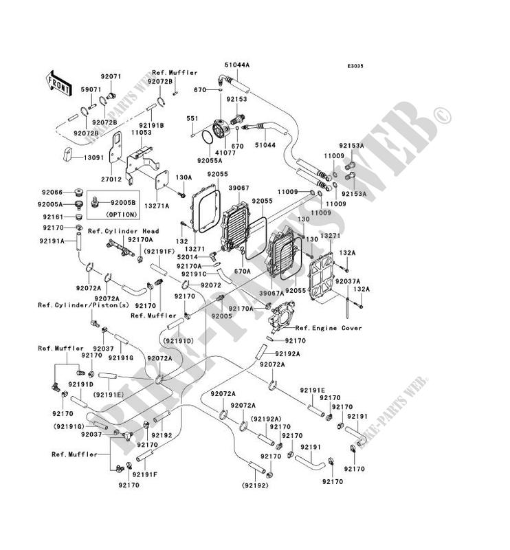 REFROIDISSEMENT( JTT20BE002476) pour Kawasaki JET SKI STX
