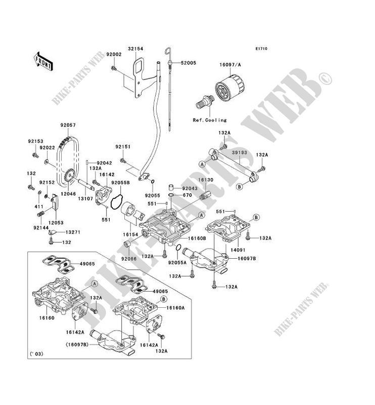 POMPE A HUILE pour Kawasaki JET SKI STX-12F 2004