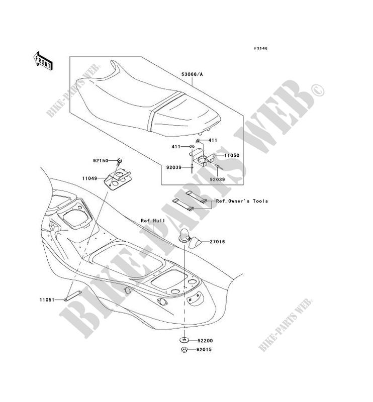 SELLE JT1200 B2 JET SKI STX 12F 2004 1200 JET SKI Kawasaki