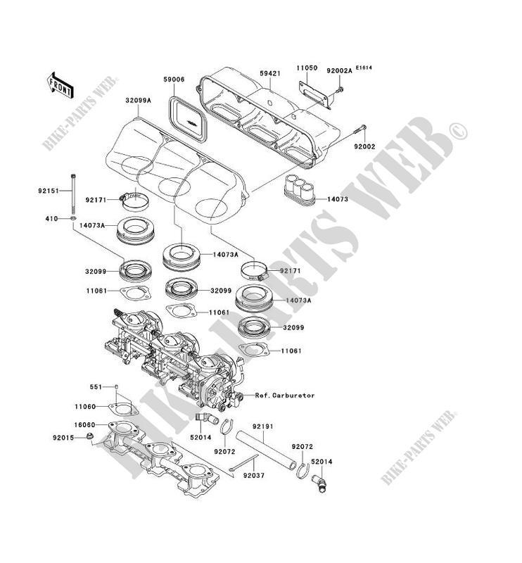 BOUCLIER THERMIQUE pour Kawasaki JET SKI 1200 STX-R 2004