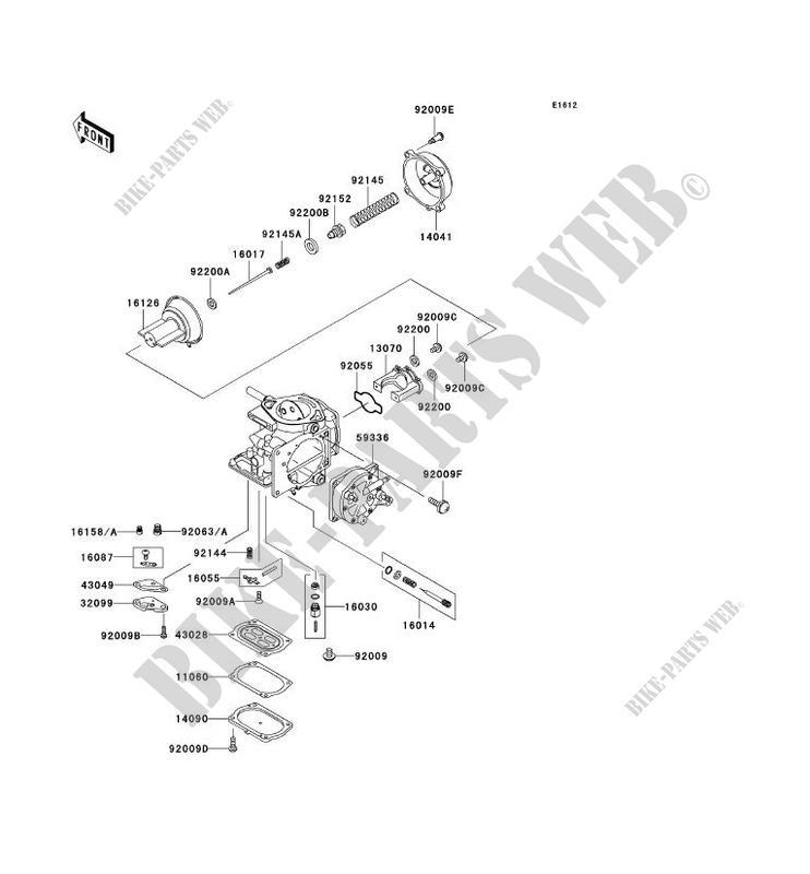 PIÈCES DE CARBURATEUR pour Kawasaki JET SKI 1200 STX-R