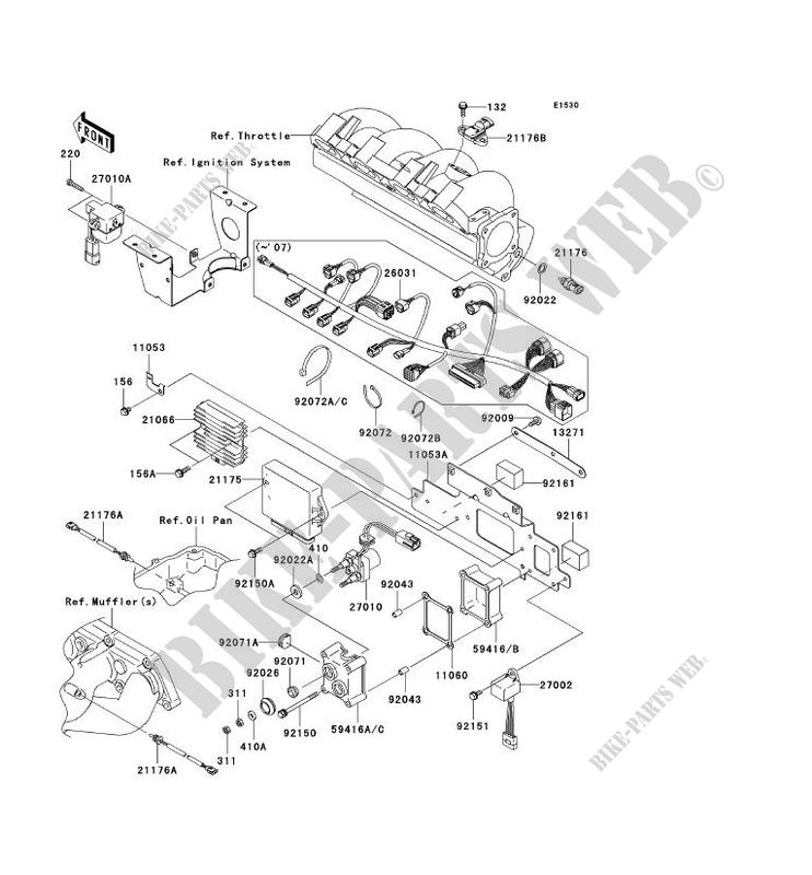 INJECTION CARBURANT pour Kawasaki JET SKI STX-15F 2009