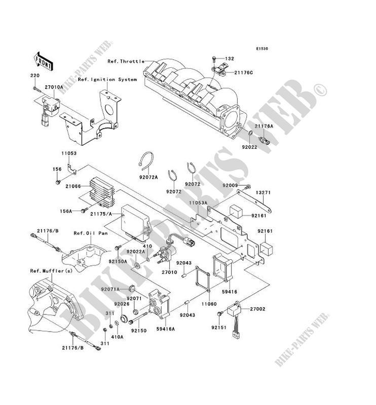 INJECTION CARBURANT pour Kawasaki JET SKI STX-15F 2014