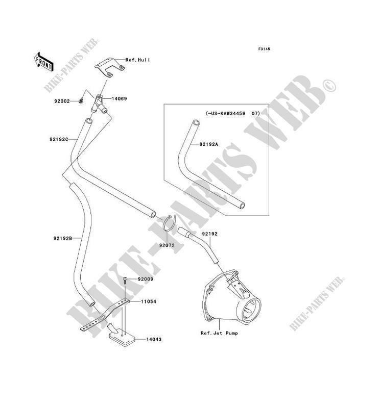 SYSTEME DE CALE pour Kawasaki JET SKI ULTRA 250X 2007