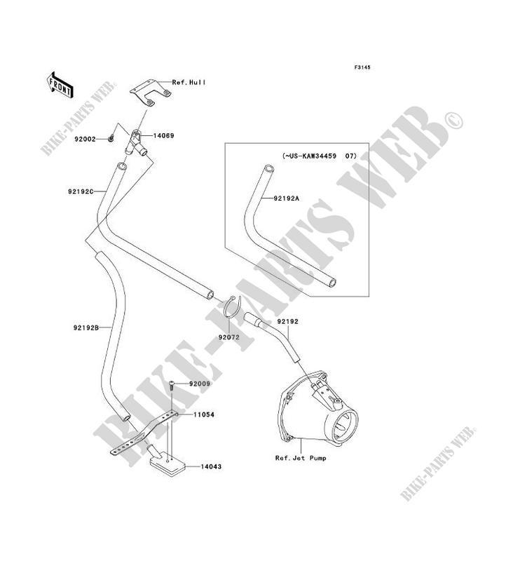 SYSTEME DE CALE pour Kawasaki JET SKI ULTRA 250X 2008