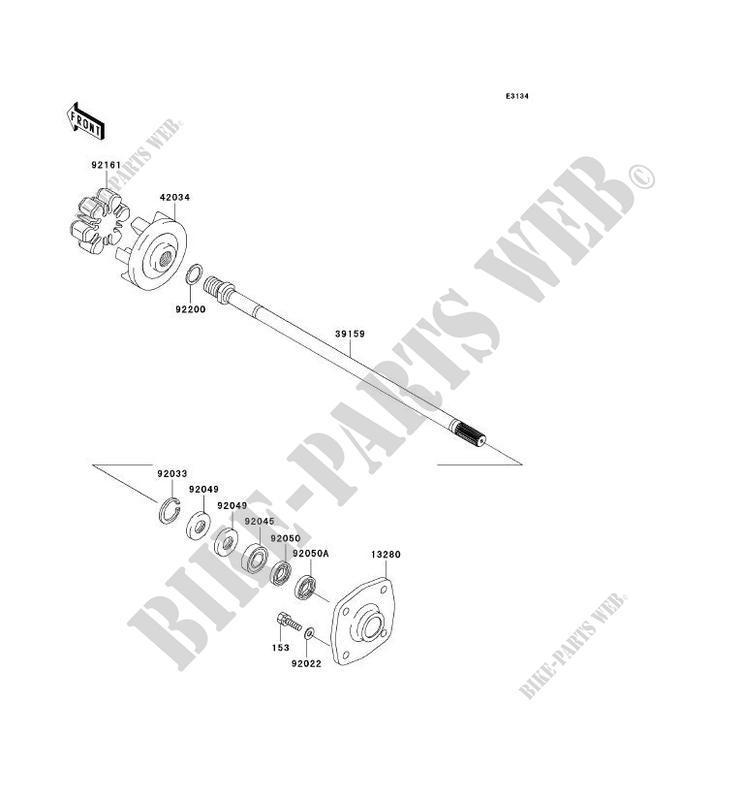 ARBRE DE TRANSMISSION JT1500B8F JET SKI ULTRA 250X 2008