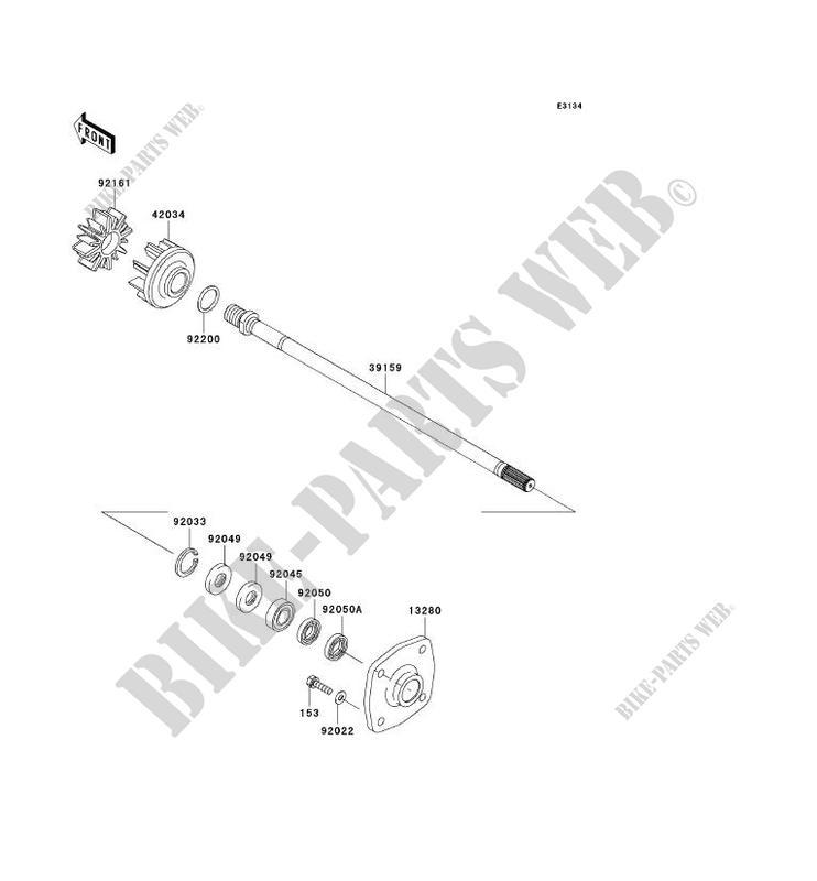 ARBRE DE TRANSMISSION pour Kawasaki JET SKI ULTRA 300X