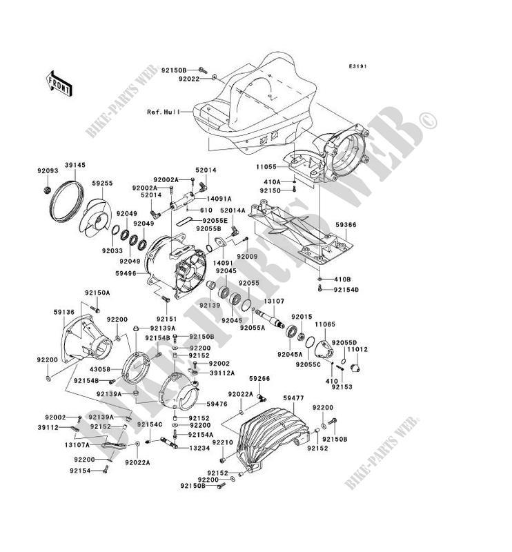 TURBINE JT1500HBF JET SKI ULTRA 300X 2011 1500 JET SKI