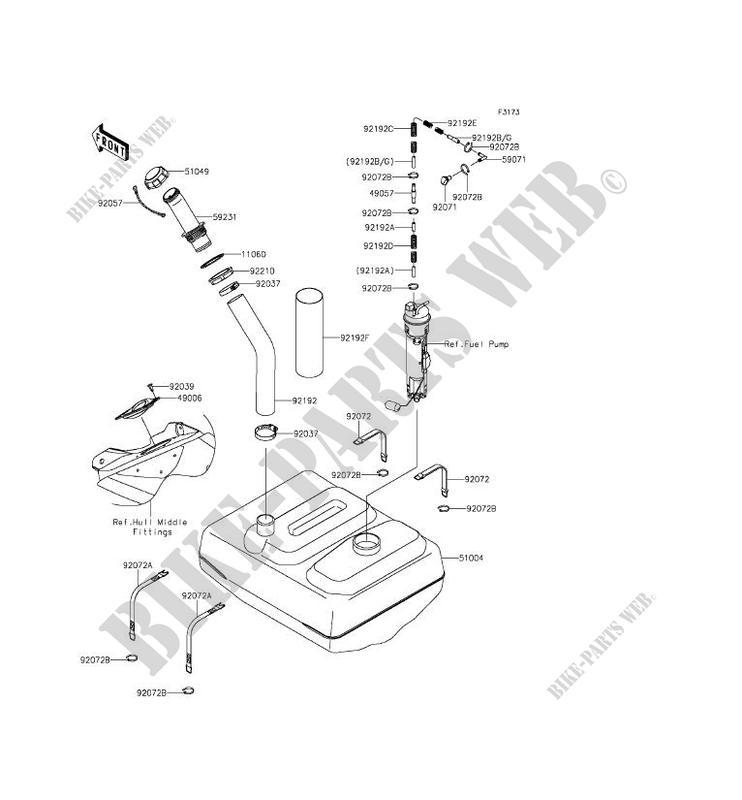 RESERVOIR CARBURANT pour Kawasaki JET SKI ULTRA 310R 2014