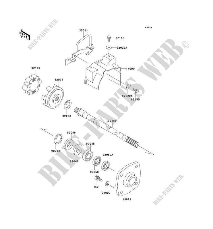 ARBRE DE TRANSMISSION pour Kawasaki JET SKI 900 STX 2000