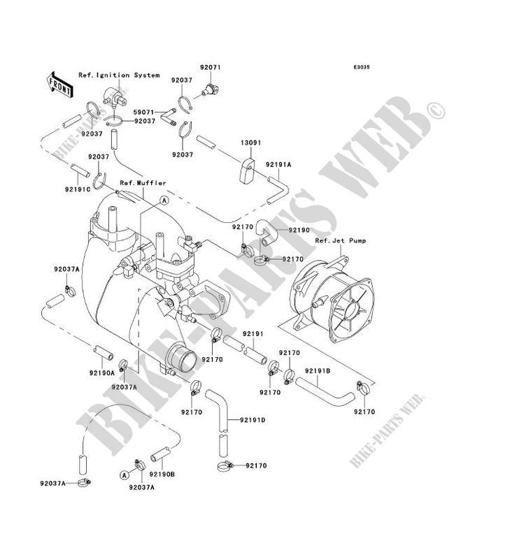 REFROIDISSEMENT JT900 B2 JET SKI 900 STX 2000 900 JET SKI