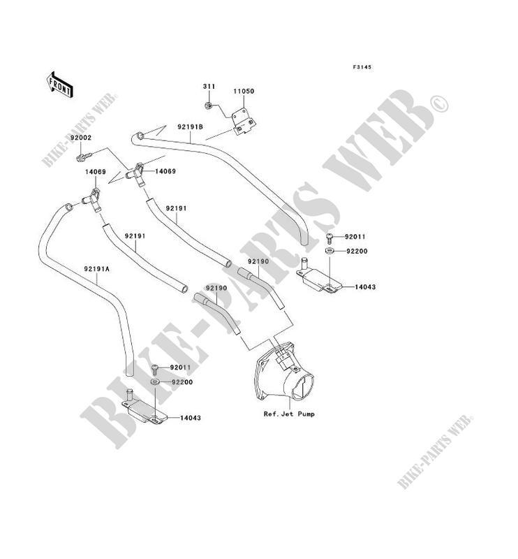 SYSTEME DE CALE JT900 B2 JET SKI 900 STX 2000 900 JET SKI