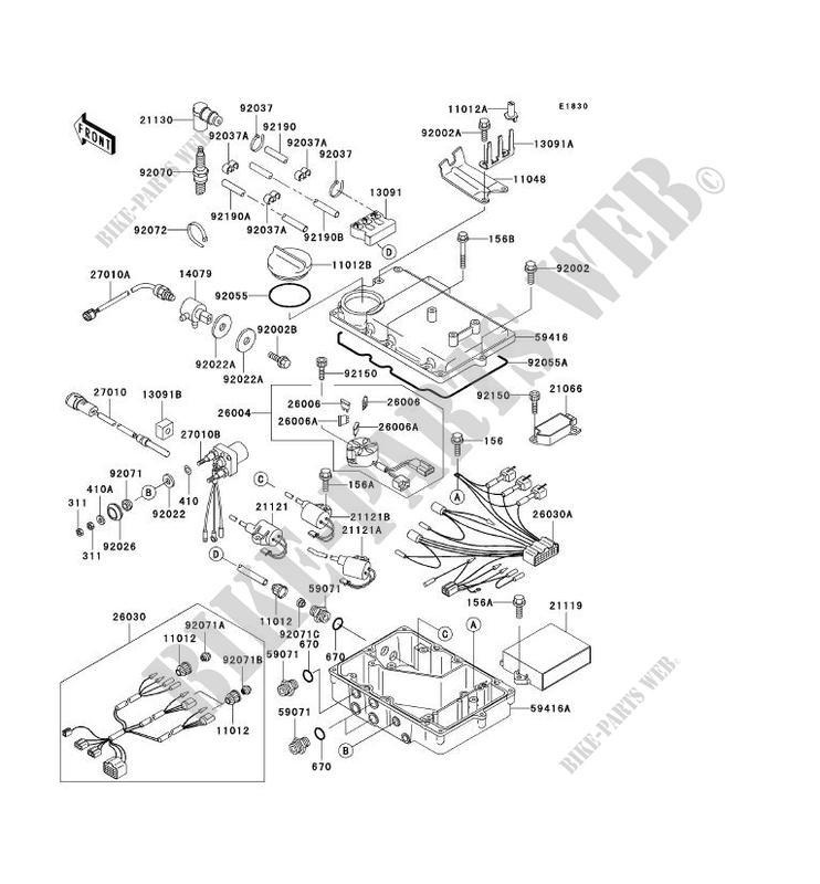 SYSTEME D´ALLUMAGE pour Kawasaki JET SKI 900 STX 2000