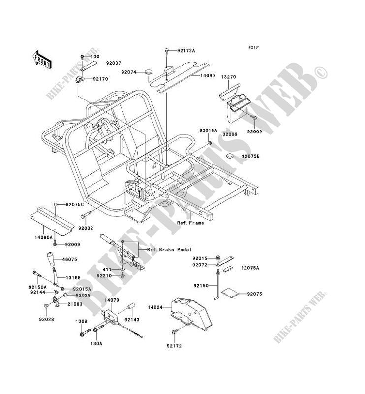 PIECE DE CADRE (COUVERTURE) pour Kawasaki MULE 550 2004