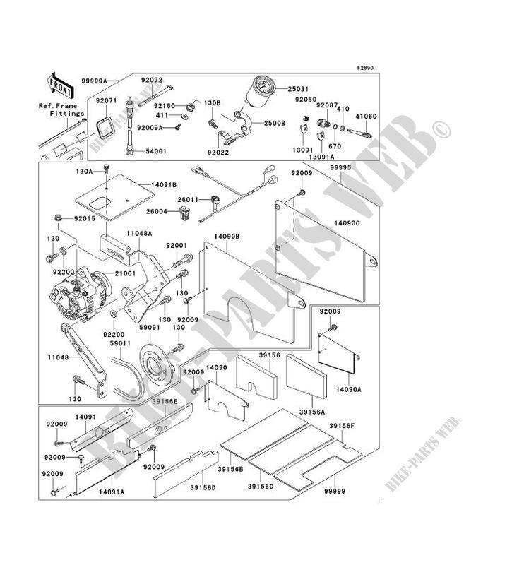 PIECE EN OPTION pour Kawasaki MULE 3000 2007 # KAWASAKI