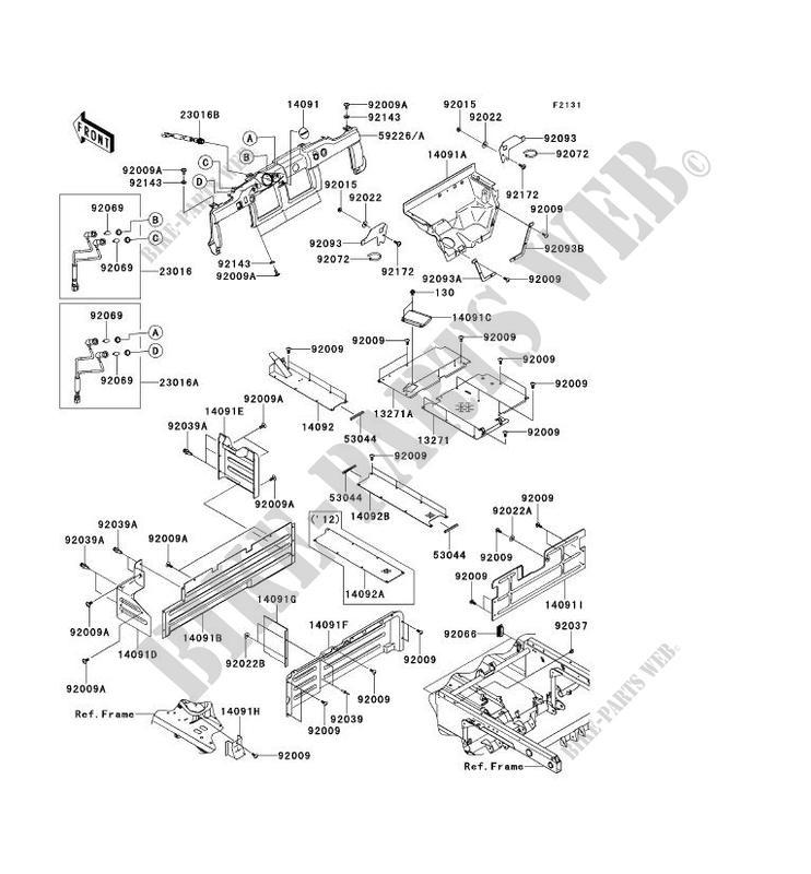 PIECE DE CADRE (COUVERTURE) pour Kawasaki MULE 4010 TRANS