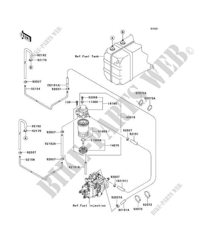 POMPE A ESSENCE pour Kawasaki MULE 3010 TRANS 4X4 DIESEL