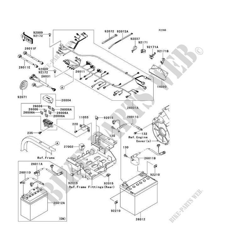 CHASSIS EQUIPMENT ELECTRIQUE pour Kawasaki TERYX 750 FI