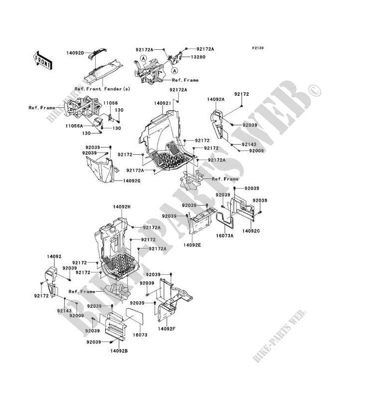 PIECE DE CADRE(AVANT) pour Kawasaki TERYX 4 2014