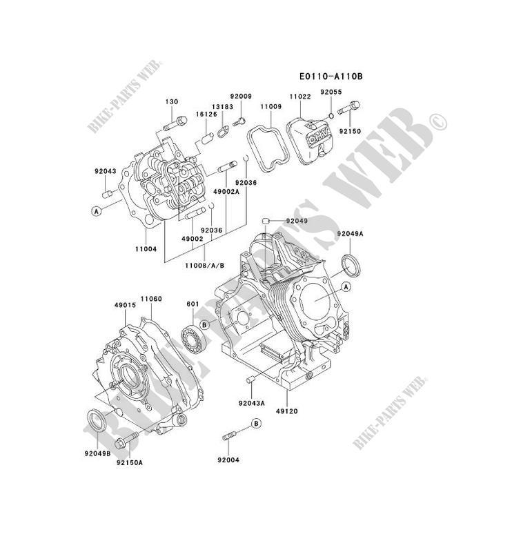 CULASSE/CARTER MOTEUR pour Kawasaki FE MOTORS FE350D