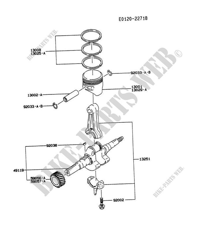 PISTON/VILEBREQUIN pour Kawasaki FG MOTORS FG230D
