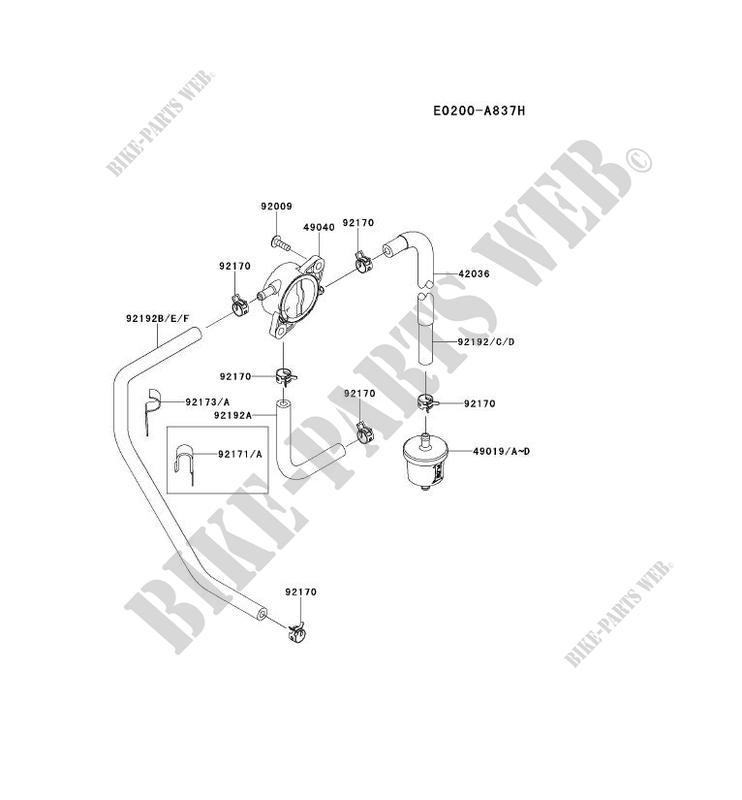 RESERVOIR CARBURANT/ROBINET pour Kawasaki FR MOTORS FR651V