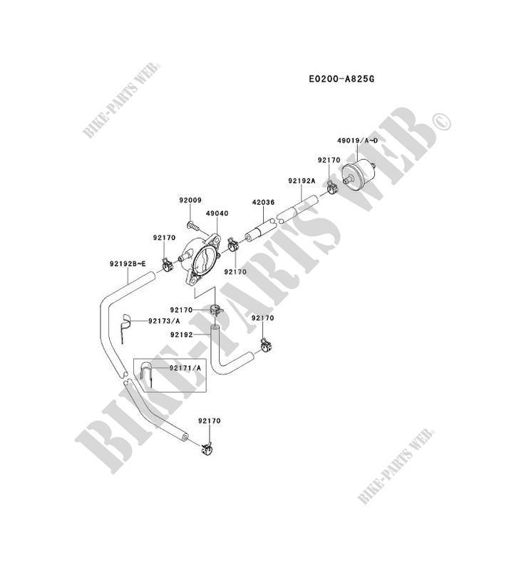 RESERVOIR CARBURANT/ROBINET pour Kawasaki FS MOTORS FS481V