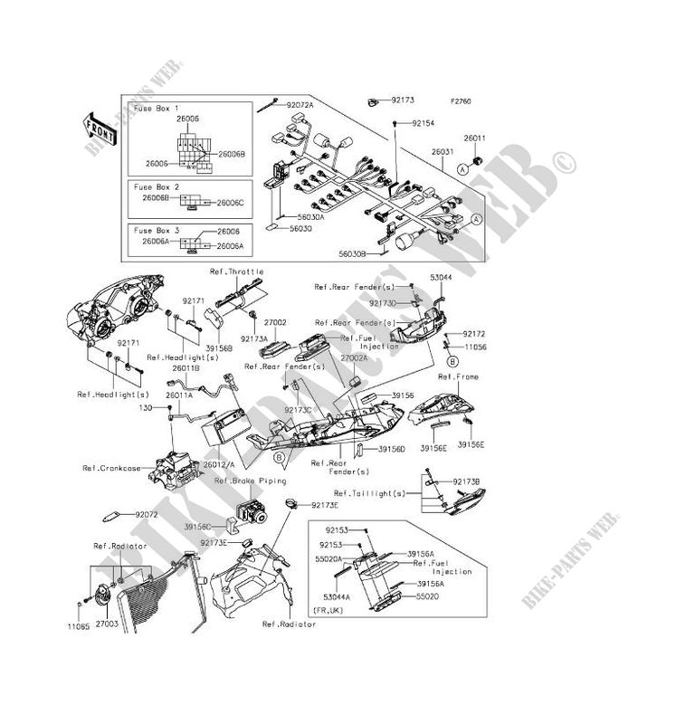 CHASSIS EQUIPMENT ELECTRIQUE pour Kawasaki NINJA ZX-6R ABS