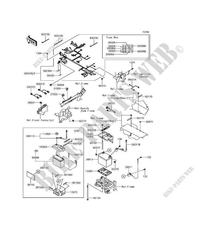 CHASSIS EQUIPMENT ELECTRIQUE pour Kawasaki TERYX 4 CAMO