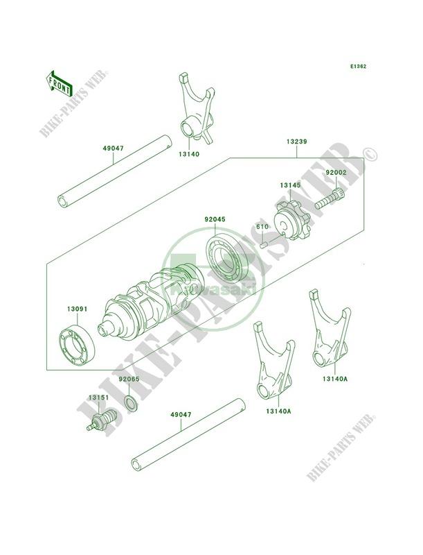 Gear Change DrumShift Forks pour Kawasaki Ninja ZX-6R 2003