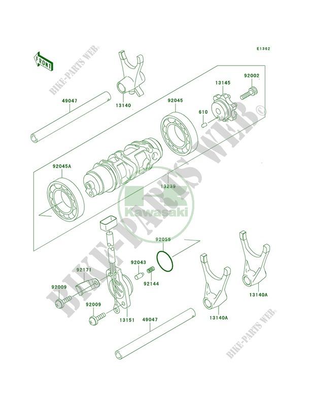 Gear Change DrumShift Forks pour Kawasaki Ninja ZX-12R
