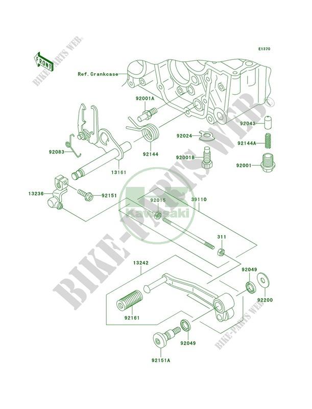 Gear Change Mechanism pour Kawasaki ZR-7S 2005 # KAWASAKI