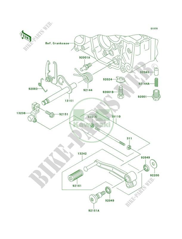 Gear Change Mechanism pour Kawasaki ZR-7S 2004 # KAWASAKI