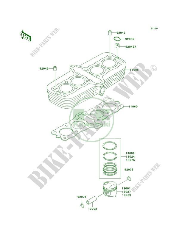 CylinderPistons pour Kawasaki ZR-7S 2002 # KAWASAKI